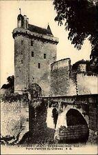 Chinon France s/w AK ~1910 Porte d'entrée du château Schloß Eingang ungelaufen