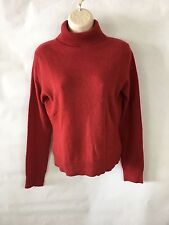 Apt 9 Womens 100% Cashmere Sweater Solid Red Turtleneck Long Sleeves Size S