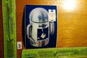 Alter Aufkleber Tabak Zigaretten PHILIP MORRIS Robot Philip