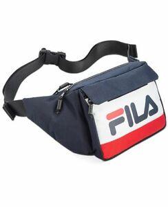 Fila Lindon Waist Bag Black Fanny Pack Blue Red White
