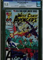 WEST COAST AVENGERS #4 CGC 9.8 MINT WHITE PAGES LIMITED SERIES OF 4 1984 MARVEL