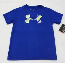 Under Armour Boys Short Sleeve Royal Blue Pop Logo T-shirt Size 4