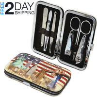 6 PCS  Pedicure Manicure Set Nail Clippers Cuticle Pusher Tweezers Kit Scissors