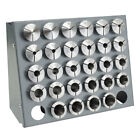 28 PC. PRECISION METRIC 5-C COLLET SET w/RACK, 1MM TO 28MM FREE SHIPPING 5 C