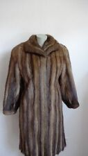 Women's Sz 8/10 Muskrat Fur Coat Mint Medium