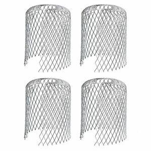 Pack Of 4 Metal GutterLeaf Debris Trap Guard Drain Pipe Cover Downpipe Rainwater