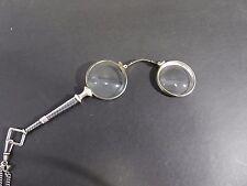 Longnon Sehhilfe Lorgnette Stielbrille 900 er Silber Niello Tula Silber Tip Top