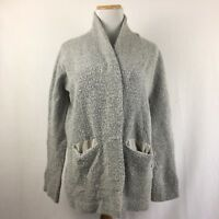 LOFT Ann Taylor Thick Chunky Gray Longsleeve Cardigan Sweater Size Small Petite