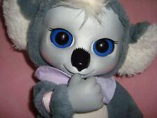 """Animal Babies Nursery Koala Bear wearing bib Plush 2014 Jakks W/Sounds 12"""""""