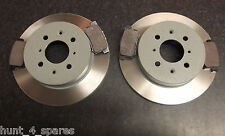 HONDA CIVIC 1.6 MK7 QUALITY JURATEK REAR BRAKE DISCS AND PADS SOLID 260MM 4 STUD