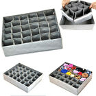 30 Cell Ties Socks Shorts Drawer Closet Divider Organizer Storage Box Container