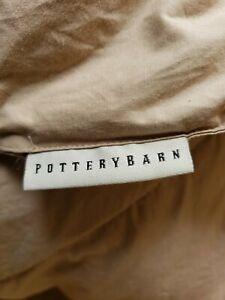 """Pottery Barn King Brown Down Comforter Duvet Insert 92"""" x 84"""""""