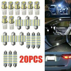 20x Combo LED Car Interior Inside Light Dome Map Door License Plate Lights Bulbs