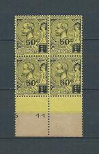 MONACO - 1921 YT 53 bloc de 4 - TIMBRES NEUFS** MNH LUXE