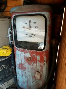 Vintage Russian USSR Soviet Gas Fuel Pump unrestored