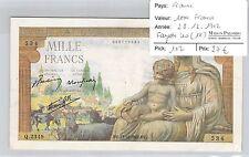 BILLET FRANCE - 1000 FRANCS - 28.12.1942