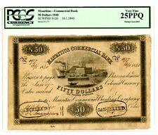 Mauritius ... P-S126 ... 50 Dollars ... 16-1-1840 ... CH*VF* ... PCGS 25 PPQ