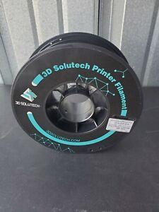 1.75mm PLA 3d printer filament, high quality, lightly used, Black