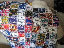 42 X 46 NFL FOOTBALL TEAMS BABY RAG QUILT OR COVERUP FOR FAN COTTONS