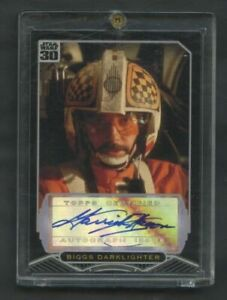 2007 Topps Star Wars 30th Garrick Hagon AUTO Biggs Darklighter ROOKIE CARD RC!!!