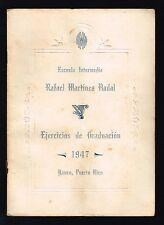 Invitacion Graduacion '47 Escuela Rafael Martnez Nadal Yauco Puerto Rico Firmas