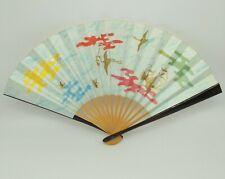Folding Fan Sensu Japanese Vintage design 'Bird and butterfly' Novelty H0016
