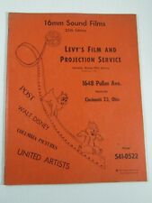 Levy's Film and Projection Service 16MM Sound Films Catalog 25th- Walt Disney