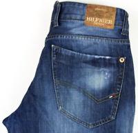 TOMMY HILFIGER Men Rogar Straight Leg Jeans Size W34 L32 AGZ401