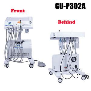 Portable Mobile Dental Unit GU-P302A+Silent Oil Free Air Compressor+Curing Light