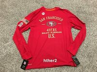 2019 San Francisco 49ers Nike Salute to Service Long Sleeve Shirt IN HAND All Sz