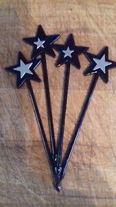 20x Black Star cocktail sticks