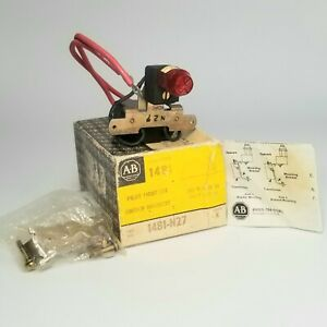 Allen Bradley 1481 Pilot Light Switch Mounted, 1481-N27 Series K