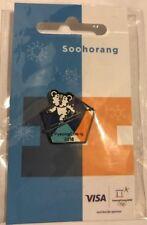 PyeongChang 2018 Winter Olympics Official Soohorang Skiing Mascot Pin - NEW!