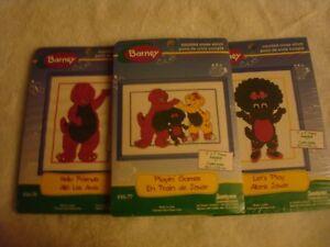 3 Janlynn Barney Counted Cross Stitch, Frame included# 16-70, 16-75, 16-77 NIP