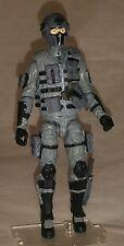 "Marauder Task Force Gray ""Tech-Ops"" 1:18 scale GI Joe ""type"" Figure with Gear"