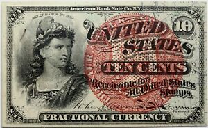 10 Cents 4th Issue U.S. Fractional Currency Note Alisson Spinner FR-1261