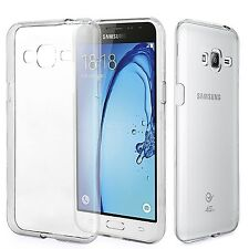 For Samsung Galaxy J3 2016 Clear Ultra Slim Gel Case and Glass Screen Protector