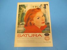 1959 Print Ad, Satura face moisturizer, dew of youth drawn from the air! PA015