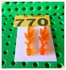 770 LEGO Part 6126b Wave Rounded with Base Rim (Castle Dragon Flame) x 2 Pcs.