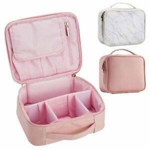 PU Leather Make Up Bag Vanity Case Cosmetic Nail Art Storage Travel Beauty Box