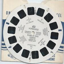 63 Honolulu Island of Oahu Hawaii 1951 View-master Reel