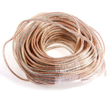 30m Copper Audio Speaker Cable Speaker Wire Transparent Strands 2x1.5mm2