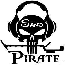 Vinyl Decal Sticker Custom Car Truck Window Sand Pirate Metal Detecting Skull