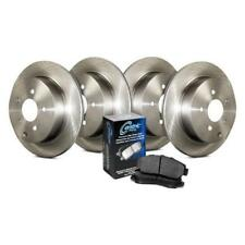 Front and Rear Brake Pads and Rotors Plain Low Dust Low Noise Kit 905.62048