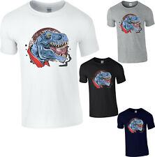 Dinosaur Funny T-Shirt T-Rex Horror Animal Gift Birthday Adult Kids Tee Top