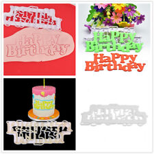 Happy Birthday Cutters Mold Fondant Sugarcraft Cake Decorating Baking Tools