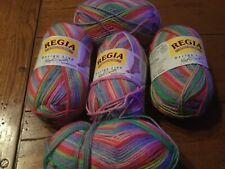 New listing Lot of 5 balls of Regia Design Line 6 ply sock knitting yarn #4450 Kaffe Fassett