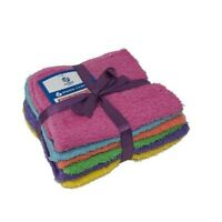 Mixed Colored hotel Wash Cloths 100% Cotton 11x11 Washcloth Towel 6Pcs