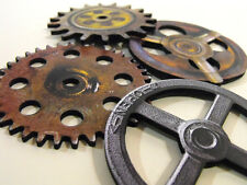 Big Wood Wheels and Gears - Wooden Laser Cut Steampunk Craft Pieces