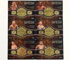 2011 Topps UFC Fan Expo * BELT PLATE * 6-card Set #44/99 ~ GSP Jon Jones CAIN